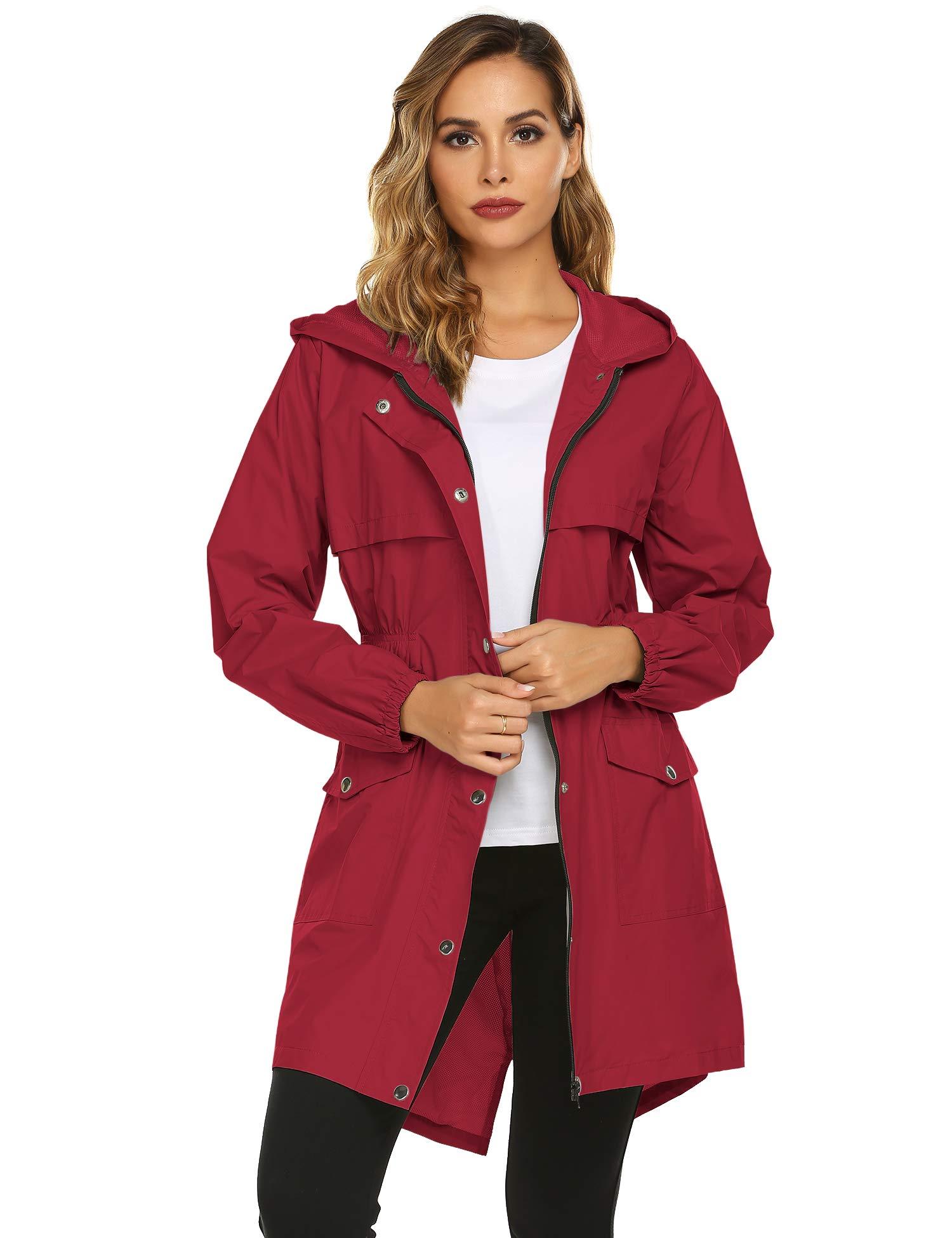 Avoogue Lightweight Rain Jacket Women Waterproof