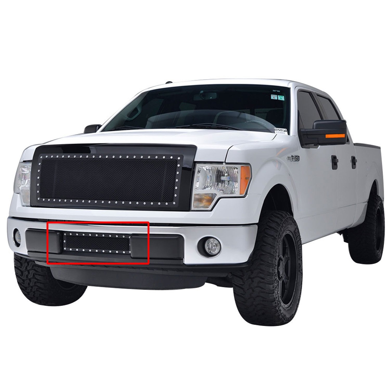 Paramount Automotive Paramount Restyling 46-0744 Black Stainless Steel Wire Mesh Bumper Grille Ford F-150 Evolution