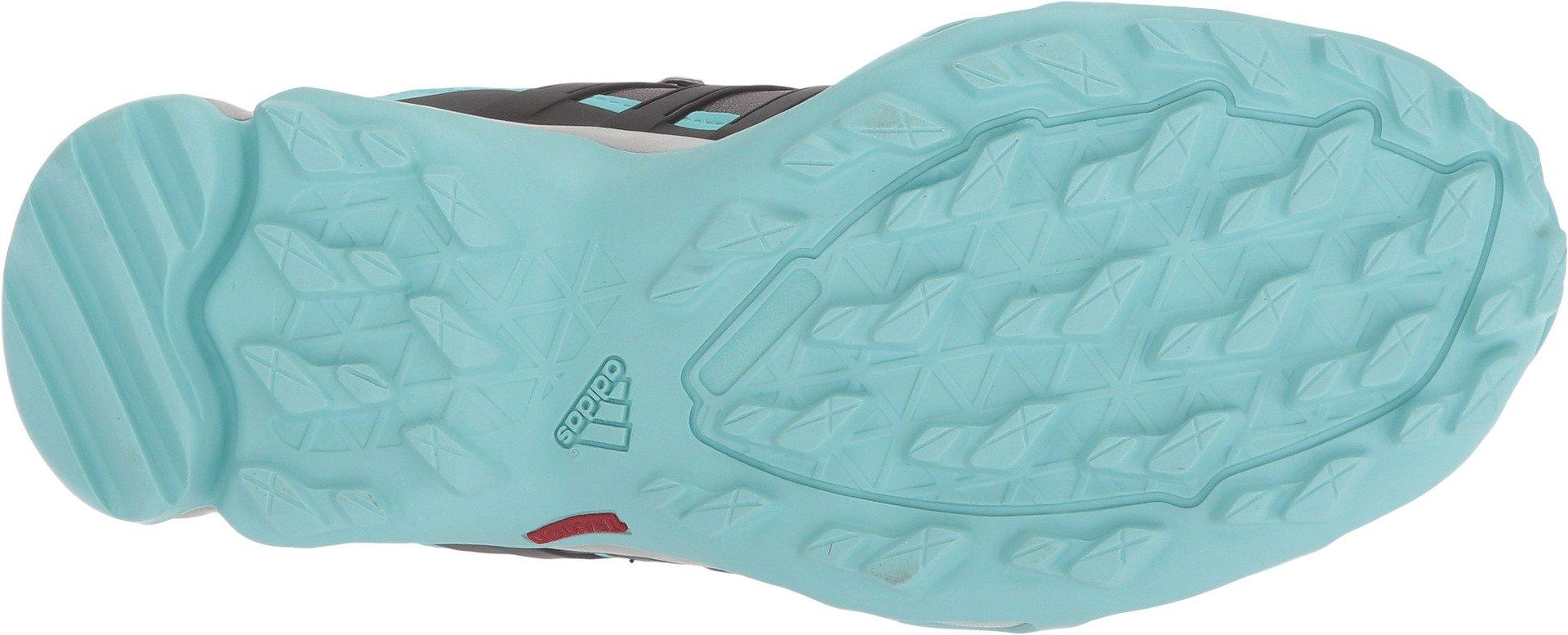 adidas Terrex Swift R Mid GTX Boot Women's Hiking 11 Grey-Utility Black-Clear Aqua by adidas (Image #3)