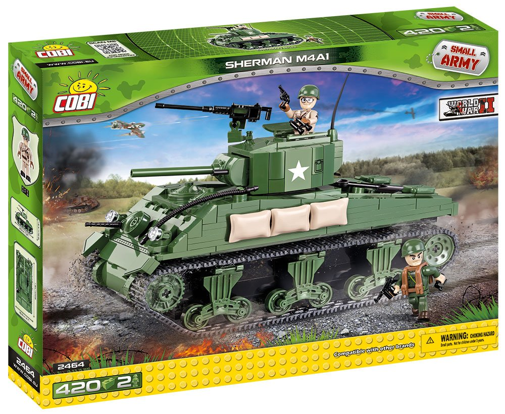 Cobi 2464 Sherman M4A1 Small Army WWII 400 Building Bricks: Amazon.co.uk:  Toys & Games