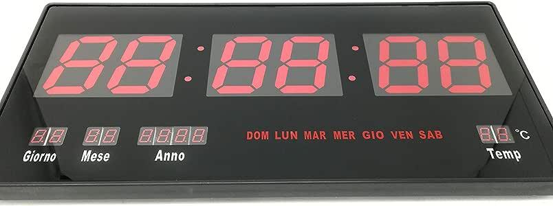 Reloj digital de pared muro a LED extraplano Slim para