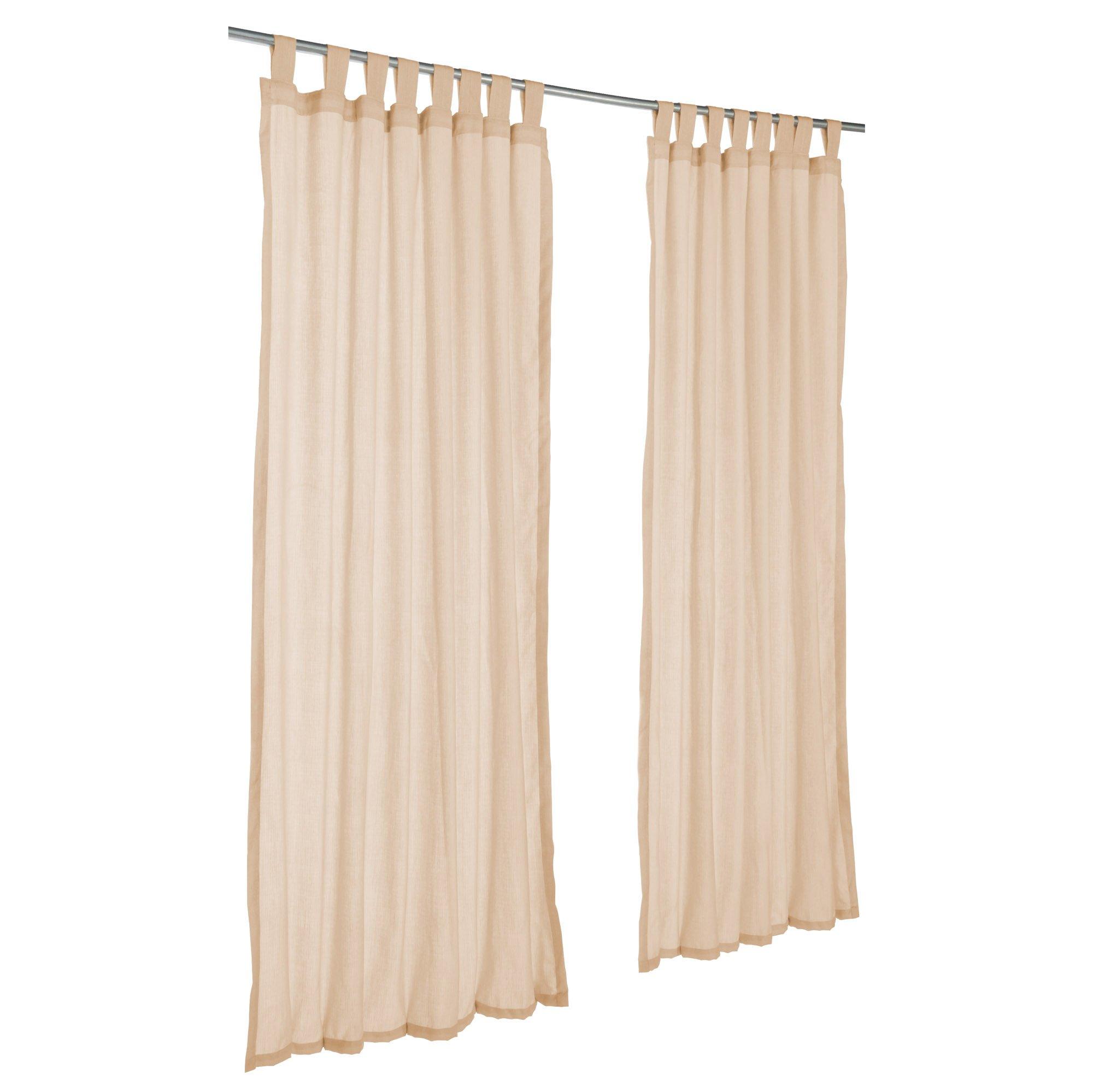 Pawleys Island Sunbrella Outdoor Gazebo Tabbed Sheer Curtain Panel Sheer Honey 50'' x 96''
