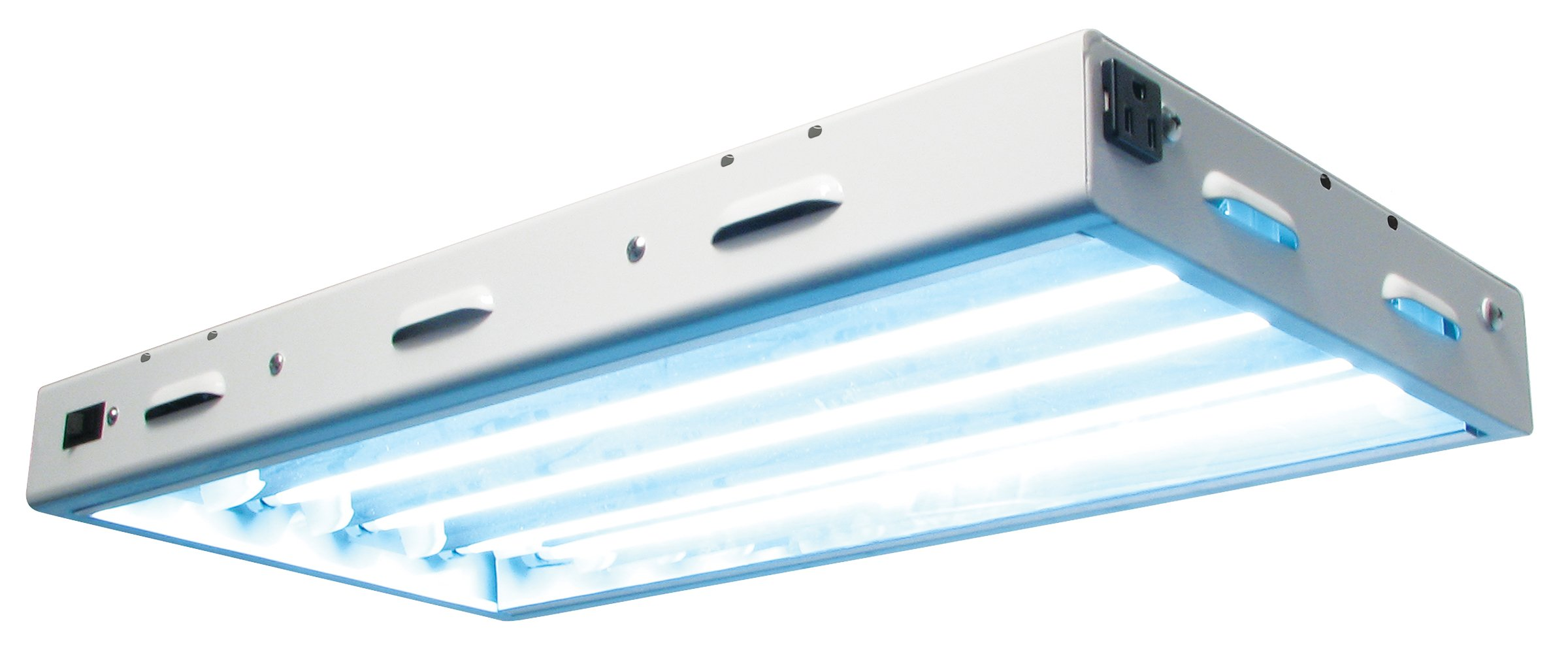 Sun Blaze T5 Fluorescent - 2 ft. Fixture | 4 Lamp | 120V - Indoor Grow Light Fixture for Hydroponic and Greenhouse Use