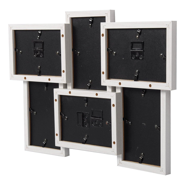 Amazon.de: WOLTU BR9643ws Bilderrahmen Holz Rahmen, Für 8 Bilder mit ...