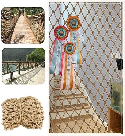 Red De Seguridad De Barandas para Niños Balcón Escalera Red Anticaída Decoración Mascota Gato Perro Protector Cuerda De Cáñamo Techo Colgar La Ropa Cuerda De Escalada Jardín Planta Al Aire Libre: Amazon.es: