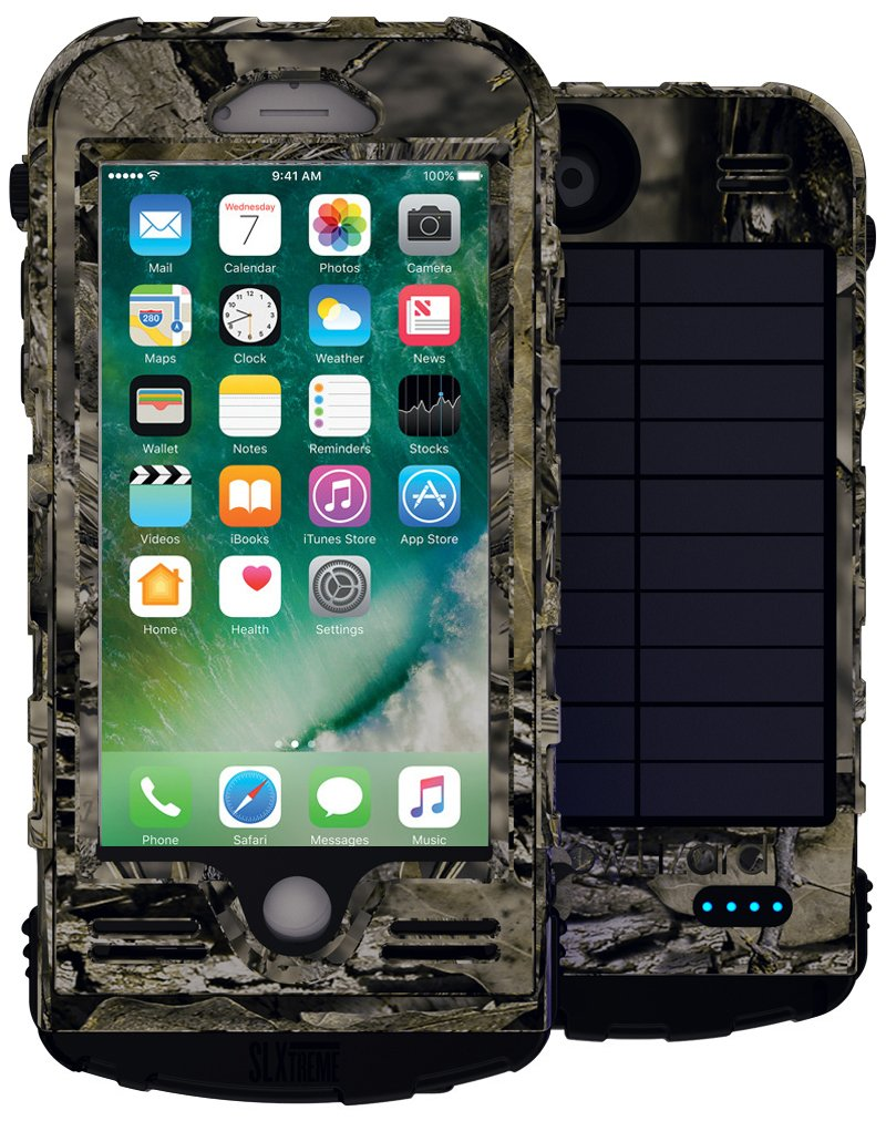 SnowLizard SLXtreme iPhone 8 Case. Solar Powered, Rugged and Waterproof with a built in Battery - Mossy Oak by Snow Lizard Products (Image #1)