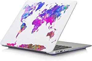 "Funut MacBook Air 13 Inch Case, Hard Plastic Protective Case Air 13.3 Scratch-Free Rubberized Case Cover for (2010-2017 Older Ver.) Mac Air 13.3"" (A1466 & A1369) (Coloful Map)"