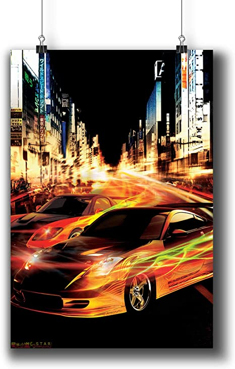 NEW THE FAST AND THE FURIOUS TOKYO DRIFT ORIGINAL MOVIE PRINT PREMIUM POSTER
