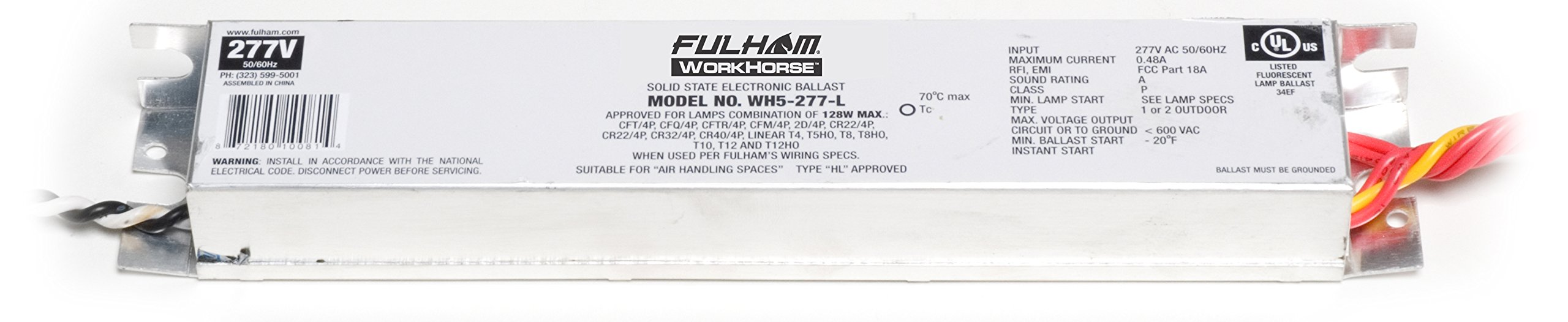 Fulham WH5-277-L WorkHorse Adaptable Ballast