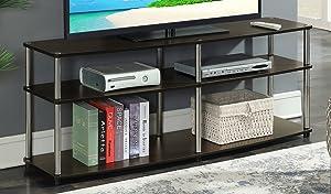 """Convenience Concepts 131060ES Designs2Go 3-Tier TV Stand, 60"""", Espresso"""