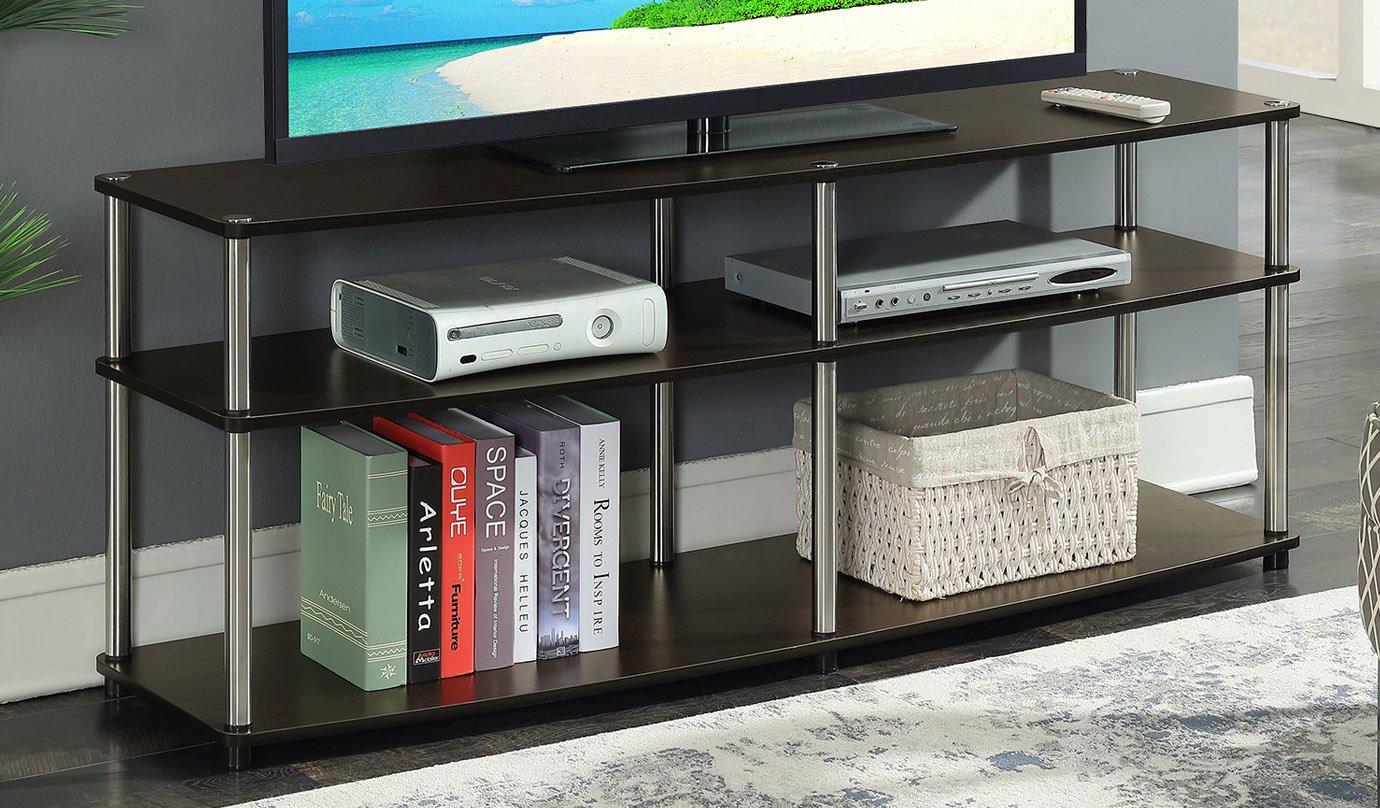 Convenience Concepts 131060ES Designs2Go 3-Tier TV Stand, 60 , Espresso