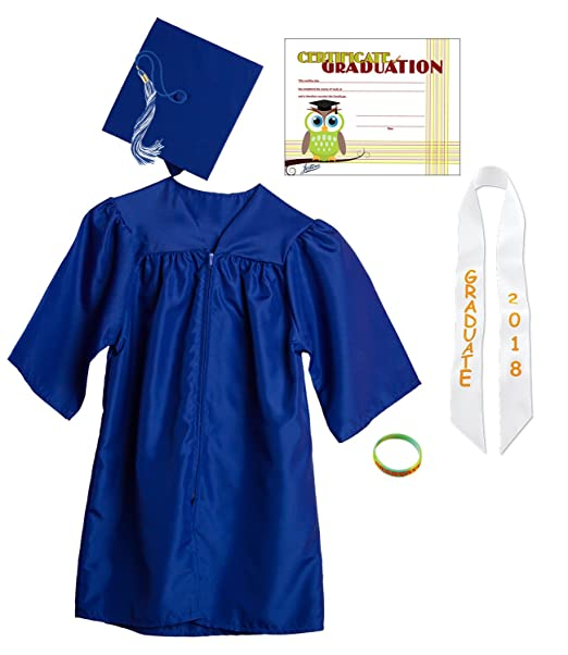 Amazon.com: Jostens Graduation Cap And Gown Package Large Royal Blue ...