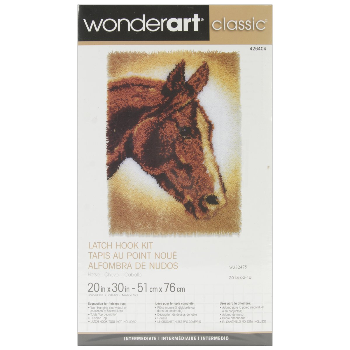 Wonderart Classics Country Harvest Latch Hook Kit, 20 X 30 20 X 30 Spinrite 426405