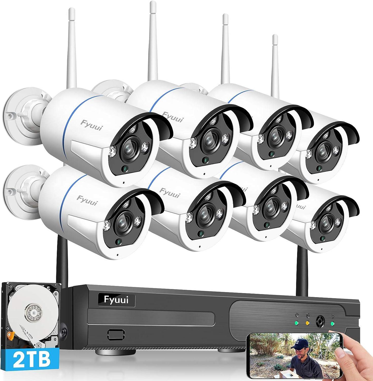 Fyuui 1080p 8 Channel Wireless Surveillance Nvr With 2tb