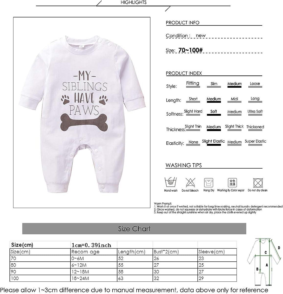 Kleinkind Baby Bodysuit Kleidung Meine Geschwister Haben Pfoten Brief Gedruckt Strampler Overall Homewear