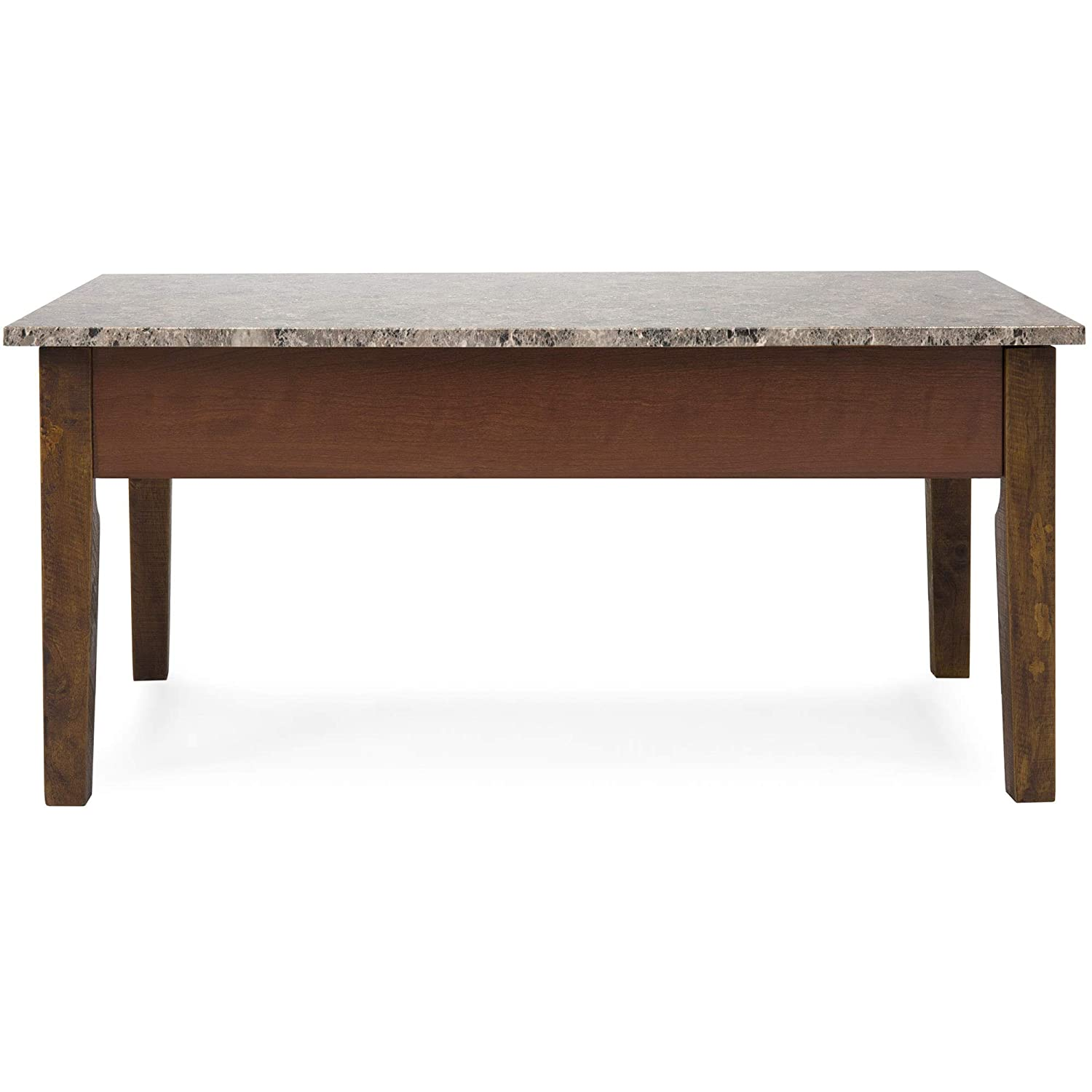 Oak Coffee Table Caring And Maintenance Tips Amazon.com: Best Choice Products Living Room Faux Marble Design Storage  Compartment Space Coffee Table Decor w-Lift Top Mechanism, Wood Veneer  Finish ...
