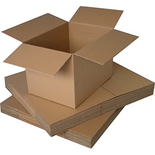 """10 x Large Double Wall Cartons Pack 2 Cardboard Boxes Tea Chest size 18x18x20"""" FREE Express Delivery"""
