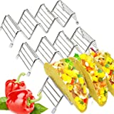Taco Holder - Pack of 3 Stainless Steel Taco Rack/Shells/Tray (Bonus: Ebook,Spatula) Space for 9 to 12 Pieces Hard and Soft S