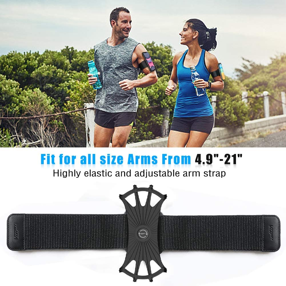 Note 9//8//5//4,Google Pixel 3//2 XL with Elastic Arm Band for Running,Working.Hiking VUP Phone Armband,360/° Rotatable Running Armband for iPhone 11 Pro Max X XR XS 8 7 6 5 6s Plus,Galaxy S10 S9 S8 Plus