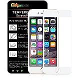 OAproda iPhone 8 plus保護フィルム 全面3D アイフォン8プラスフィルム 全面保護/キズ防止/耐衝撃 /3Dtouch/指紋防止【5.5inch 白】