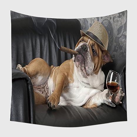 Home Decor arazzo da parete spiritoso fotografia di Bulldog inglese ...