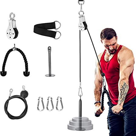 DIY Fitness Tricep Multi Gym Equipment Pulley Cable Machine Biceps Lifting Rope