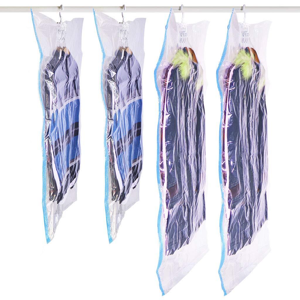 SANTREST Sacs de Rangement sous Vide /économiseur despace Sac 2 Long 145 x 70cm,2 Short 105 x 70cm 4 Pack