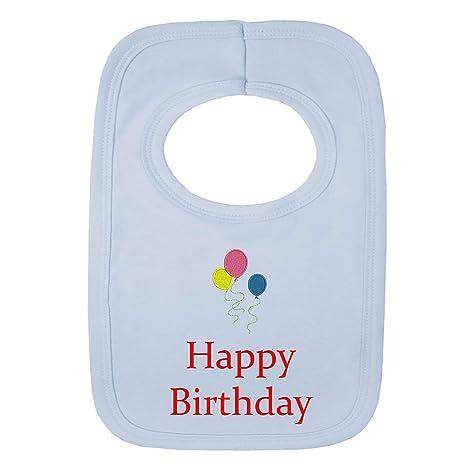 Personalizable bebé babero - feliz cumpleaños 3 globos ...