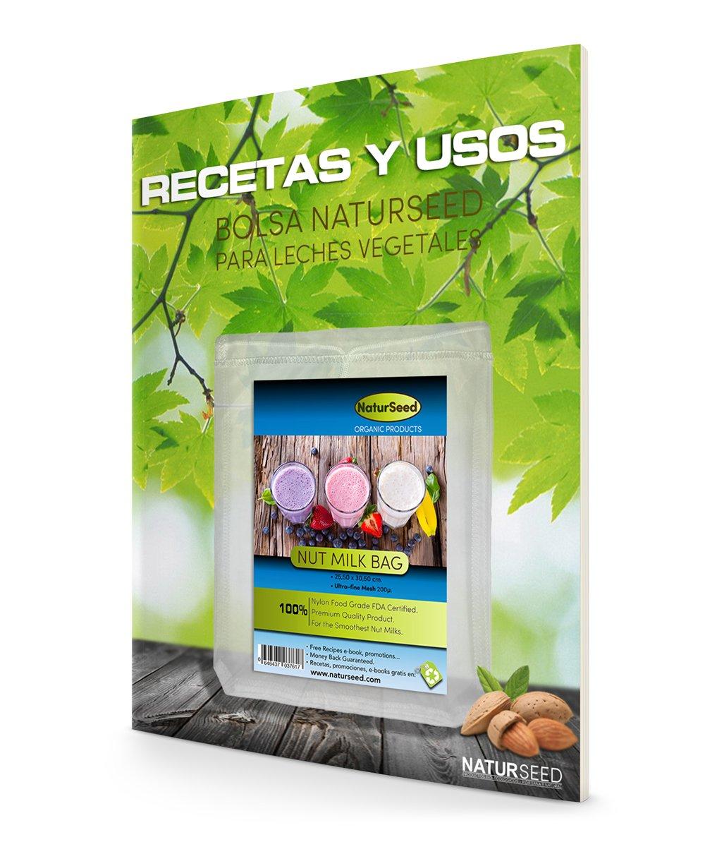 Filtro para hacer cafe Colador multiusos Certif Malla de Legumbres para cocci/ón E-book de recetas gratis Bolsa para hacer Leches Vegetales 100/% nylon de primera calidad Smoothies videos Zumos Vegetales Reutilizable Mermeladas y Germinados