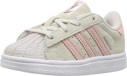adidas Originals Girls' Superstar J Sneaker, Pearl Grey Ice