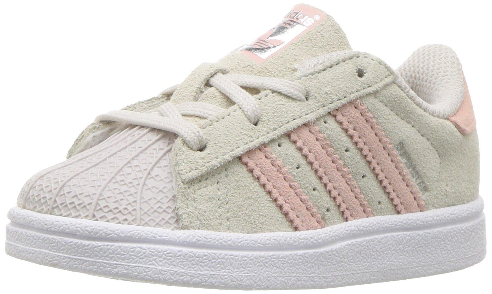 new product a1122 e00c5 Galleon - Adidas Originals Girls  Superstar I Running Shoe Pearl Grey ICE  Pink, 9 Medium US Toddler