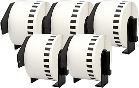 DK-22223 50 mm x 30.48 m Cinta de Etiquetas Continua Compatible para Brother P-Touch QL-1050 QL-1060N QL-1110NWB QL-1100 QL-500 QL-500A QL-500BW QL-570 QL-580 QL-700 QL-710W QL-800 QL-810W QL-820NWB
