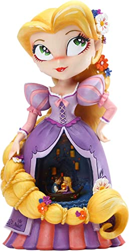 Enesco World of Miss Mindy Disney Tangled Rapunzel Lit Figurine, 9.45 Inch, Multicolor