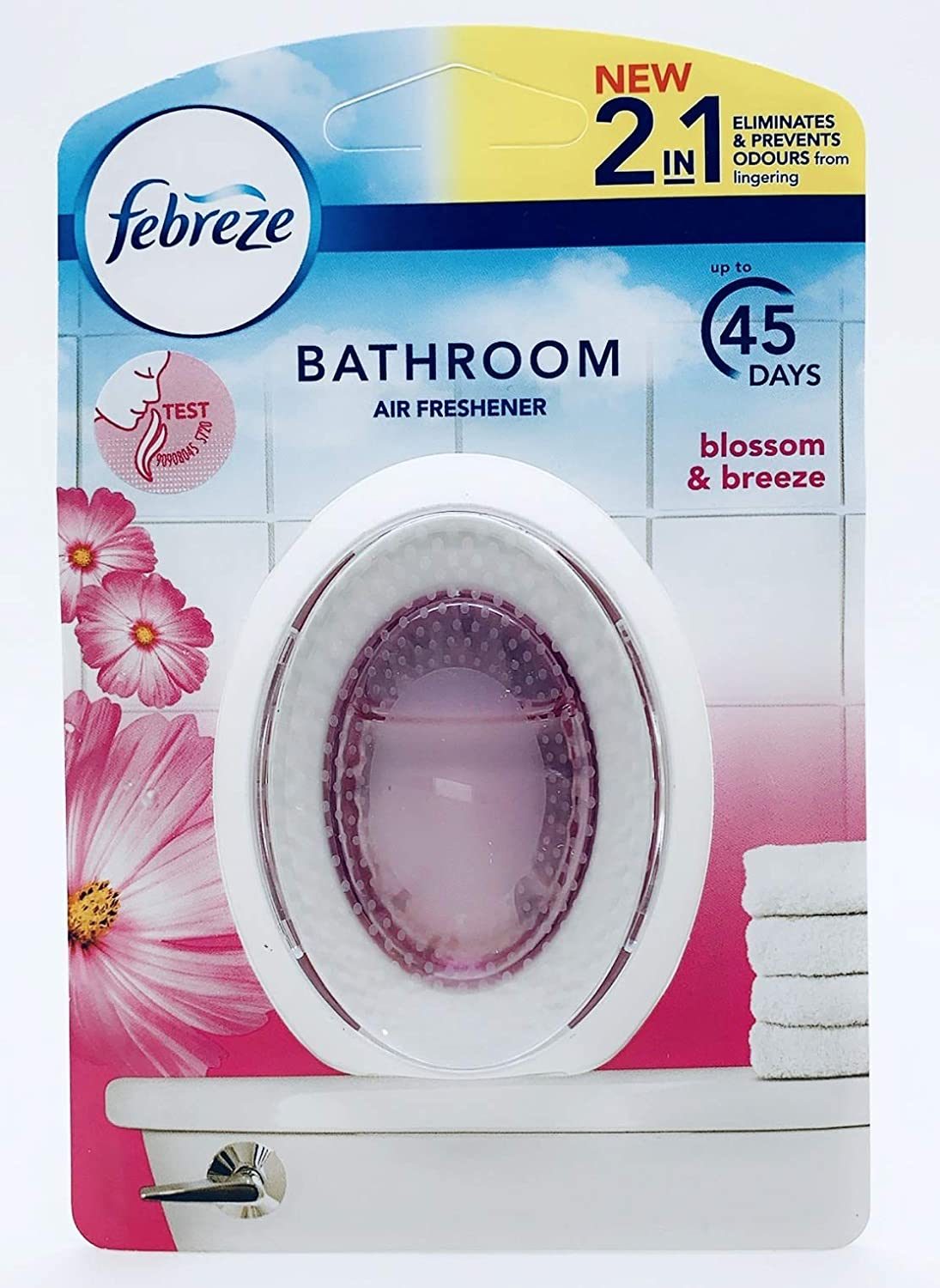 New Febreze 2in1 Bathroom Small Spaces Air Freshener Blossom Breeze 7 5 Ml 2 X Pack Amazon Co Uk Grocery