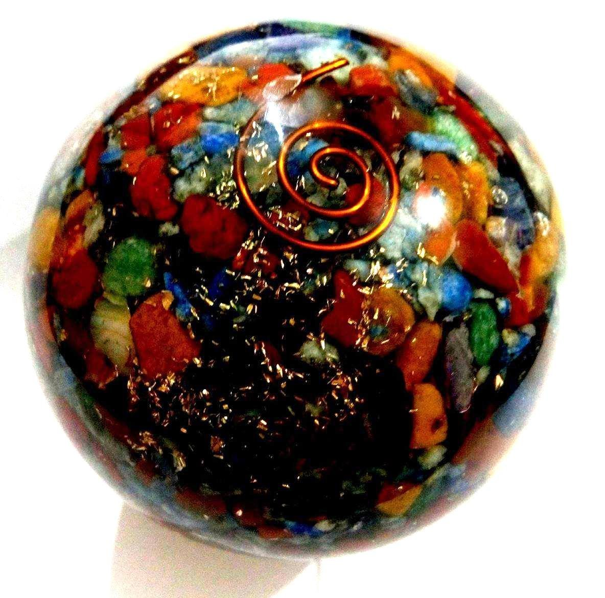 50-6mm Natural Gemstone Sphere Ball Aura Balancing Metaphysical Ball (Orgone Chakra)