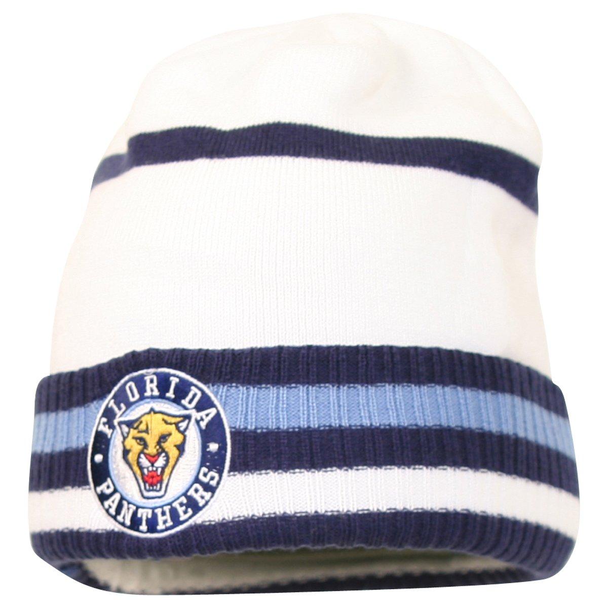 bfe56d89d6b Amazon.com   Reebok NHL Striped Cuffed Winter Knit Hat - Florida Panthers    Sports Fan Beanies   Sports   Outdoors