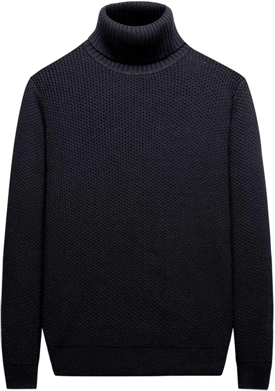 The small cat 2019 Cotton Birdseye Sweater Men Pullover Winter Warm Thick Turtle-Neck Knitwear Sweater