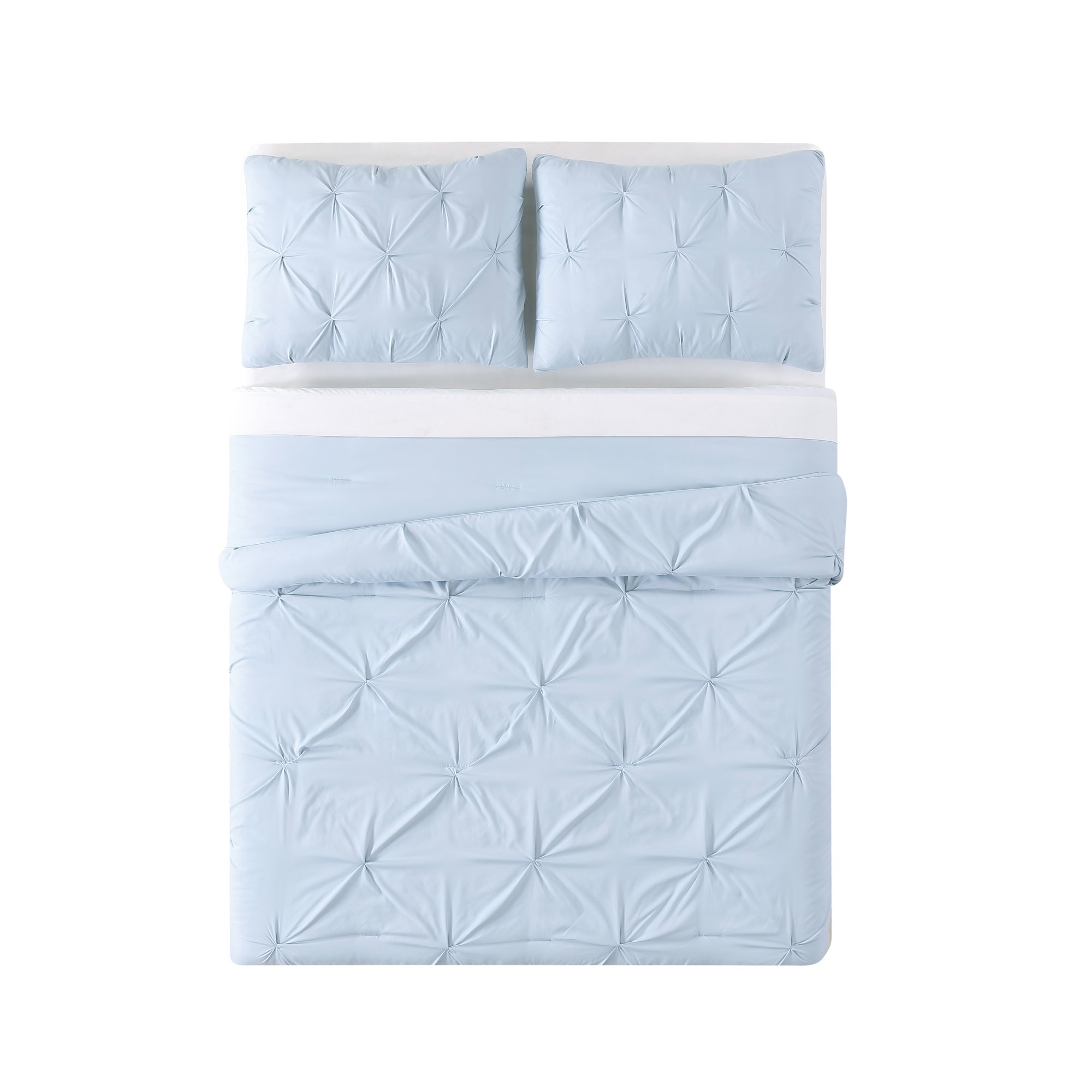Truly Soft Everyday Pleated Comforter Set, Twin X-Large, Light Blue by Truly Soft Everyday (Image #3)
