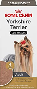 Royal Canin Yorkshire Terrier Adult Breed Specific Wet Dog Food, 3 oz. can, 4 count
