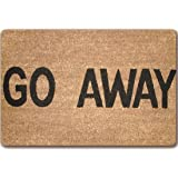 "JTENGYAO""Go Away"" Funny Doormat Non-Slip, Durable, Made Using Odor-Free Natural Rubber Fibers - 15.7 x 23.6 Inch"