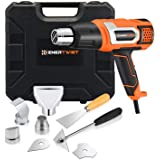 EnerTwist Heat Gun 1500 Watt Variable Temperature Control Hot Air Tool Kit Heating Protect for Shrink Wrap, Vinyl, Paint Removal, Wiring, Soldering, Crafts, Automotive, Tubing, Electronics Repair