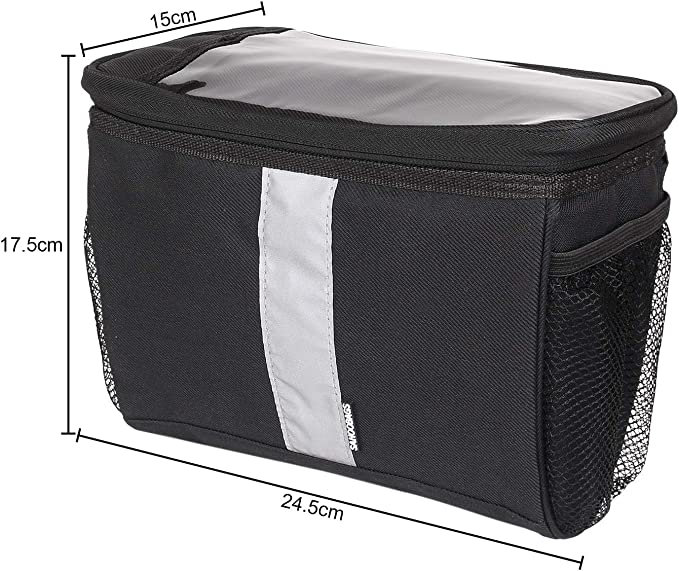 Fbeurope Bicycle Handlebar Bag-Waterproof-Cool Bag with reflektionsstreifen