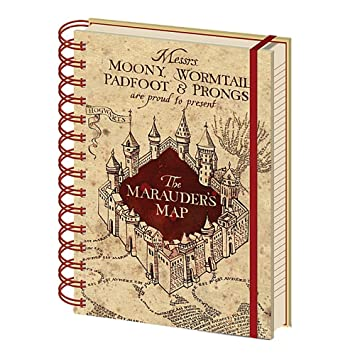 Amazon.com : Genuine Harry Potter Marauders Map A5 Wiro ...