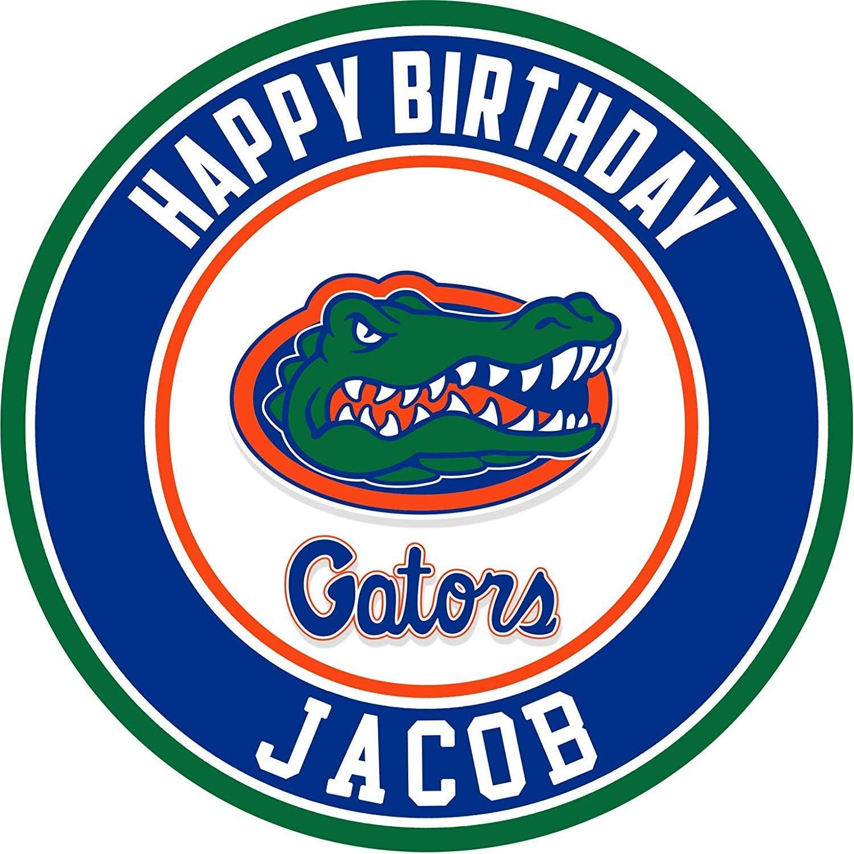 Astounding Amazon Com Florida Gators Edible Cake Topper Personalized Funny Birthday Cards Online Elaedamsfinfo