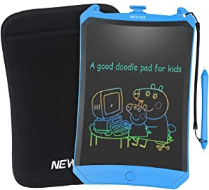 NEWYES Colorful Robot Pad 8.5 Inch LCD Writing Tablet with Lock Function Electronic Doodle Pads Drawing Board with Case and Lanyard Gifts for Kids Blue