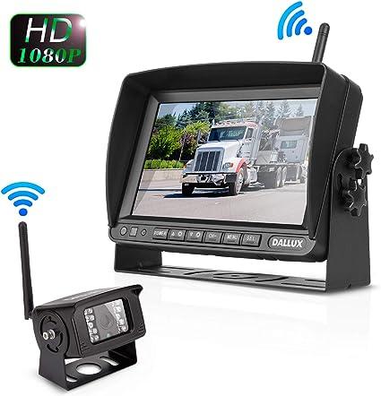 MC7601 Haloview MC7601 Backup Camera System Kit 7 LCD Reversing Monitor and IP69K Waterproof Rear View Camera for Truck//Trailer//Bus//RV//Pickups//Camper//Van//Farm Machine Car