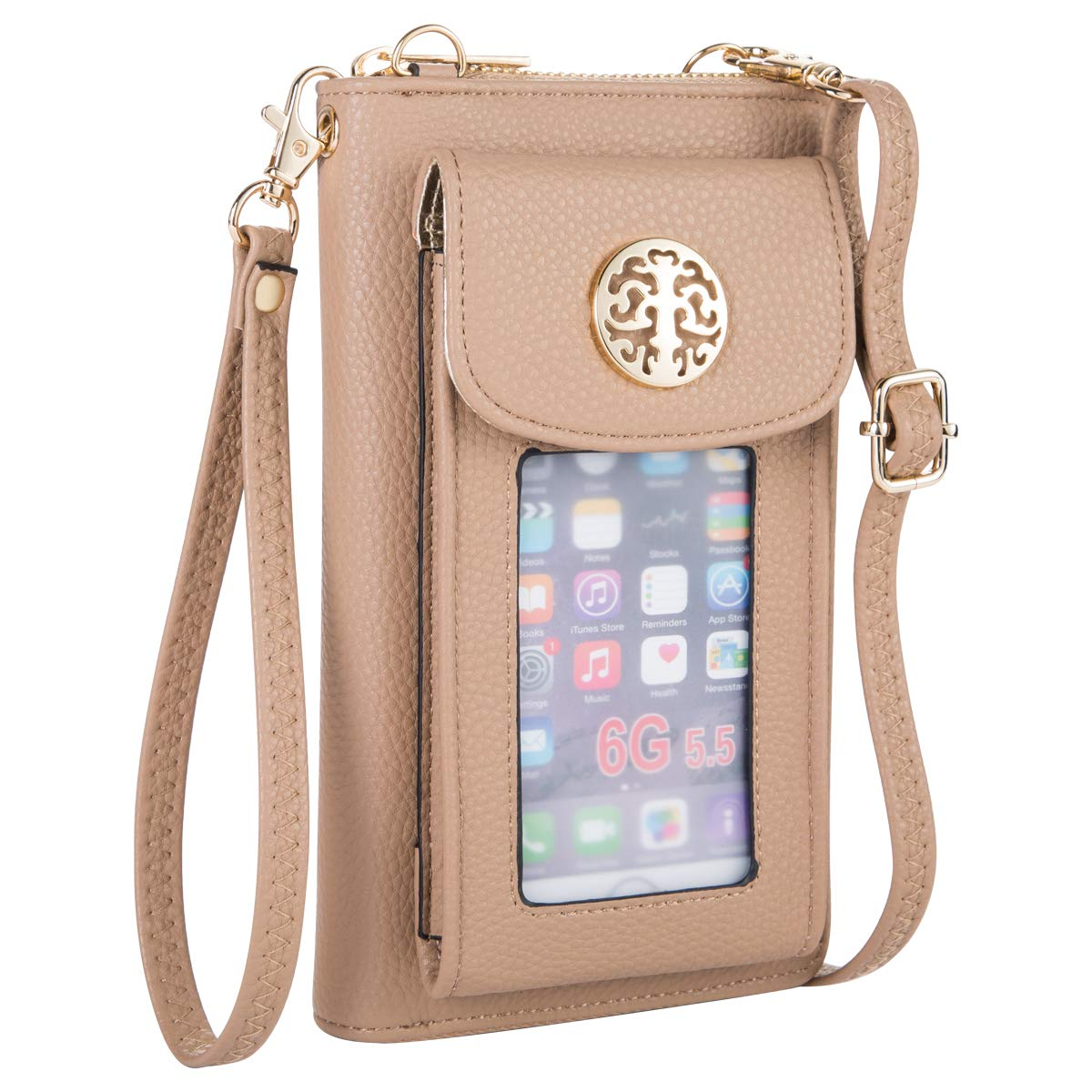 Women Wallet with Cell Phone Holder Crossbody Purse