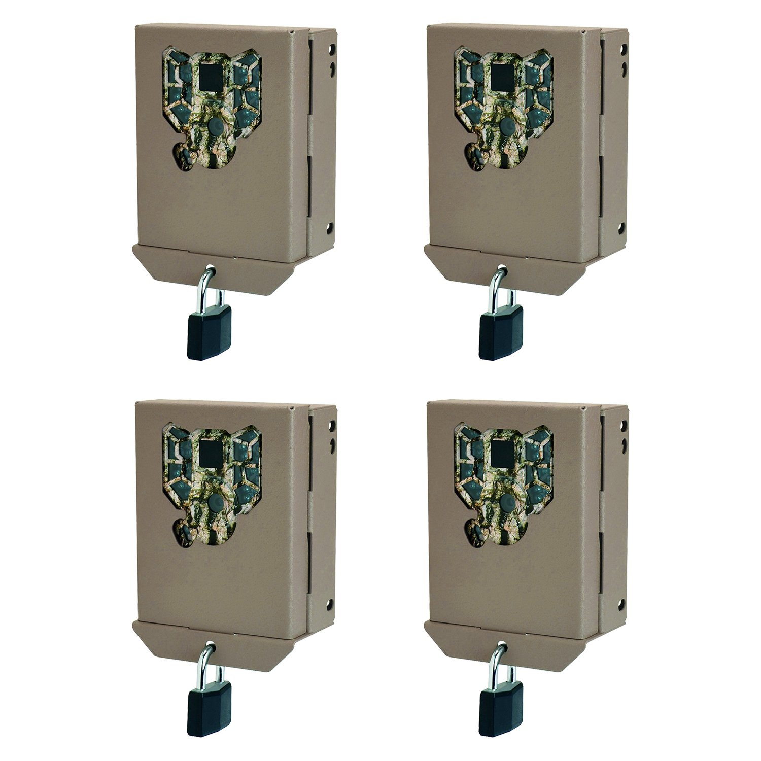 Stealth Cam PX Series Game Trail Camera Steel Security Case Box, 4 Pack BBPX