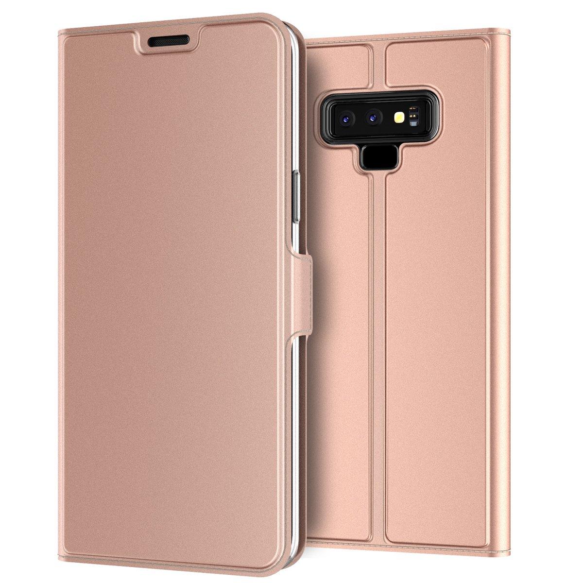 Coque Housse pour Samsung Galaxy Note 9 Etui Flip Cover Case Portefeuille Etui Housse Ultra-Mince PU Cuir Protecteur le Corps du Étui Magnétique Flip Stand/Support Fente Pour Carte (Bleu)