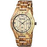 BEWELL Orologio Legno Uomo Orologi da Polso Wood Watch